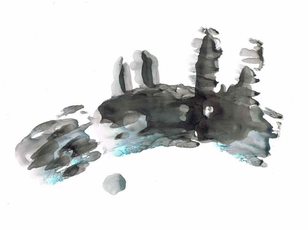 Déjà vue, gouache on stonepaper, 21x30cm