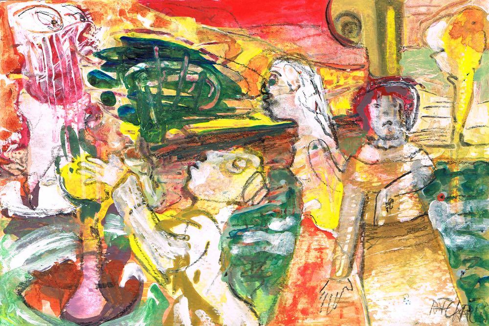 Artmoney 17-08-15 - gouache on paper