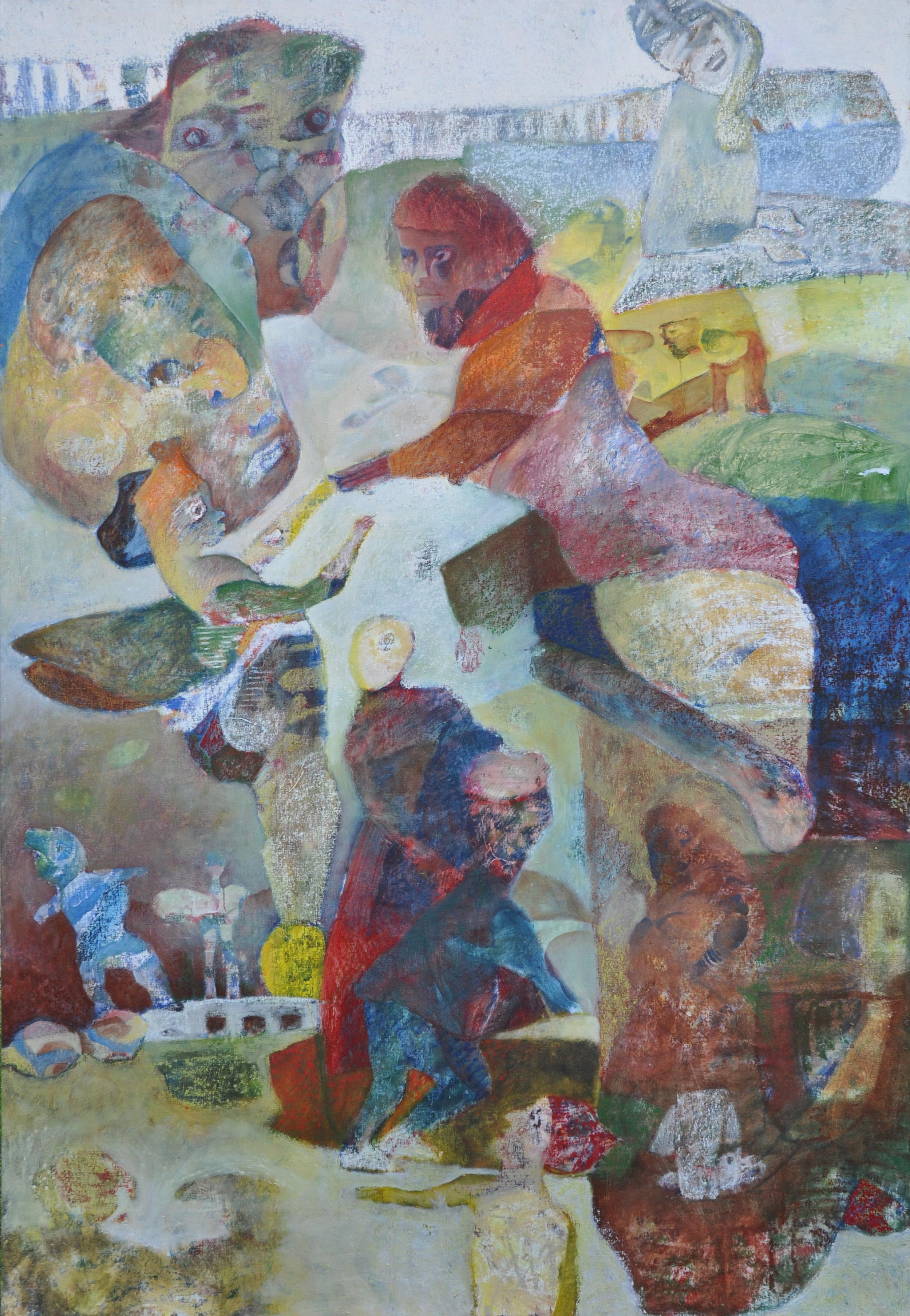 Budbringeren, oil on canvas, 239x153cm