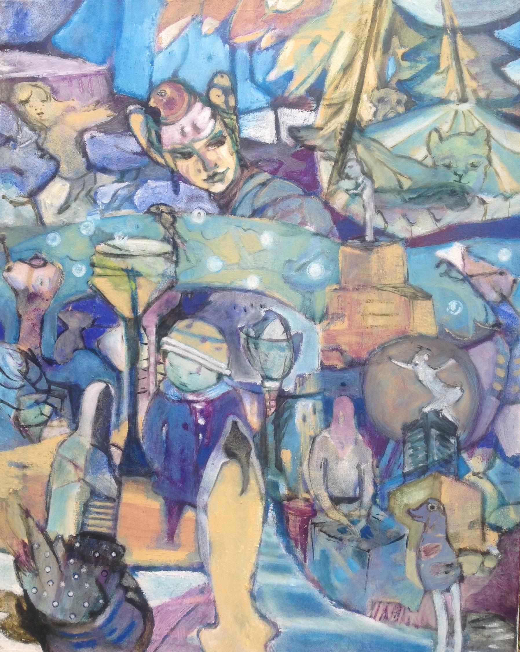 Vogelfrau, oil on canvas, 100x80cm