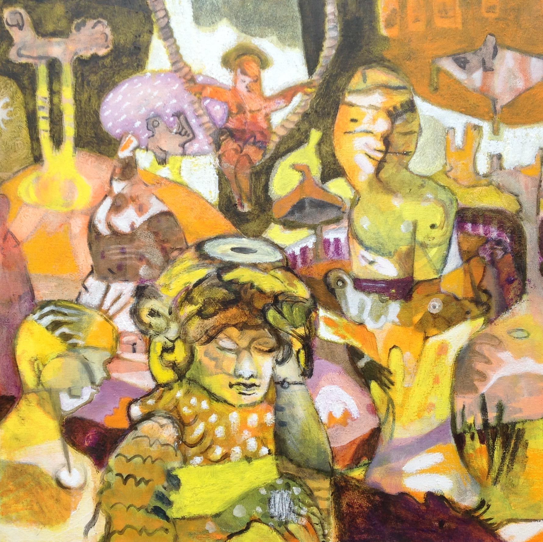 Orakel von Amtoft, oil on canvas, 80x80cm