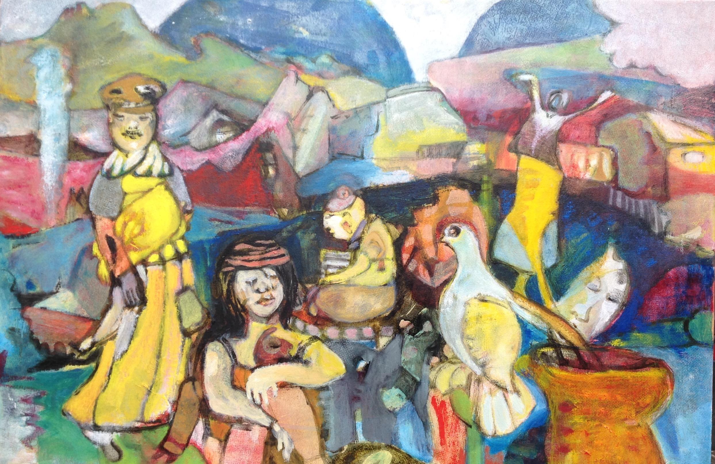 Kurzweil, oil on canvas, 60x90cm