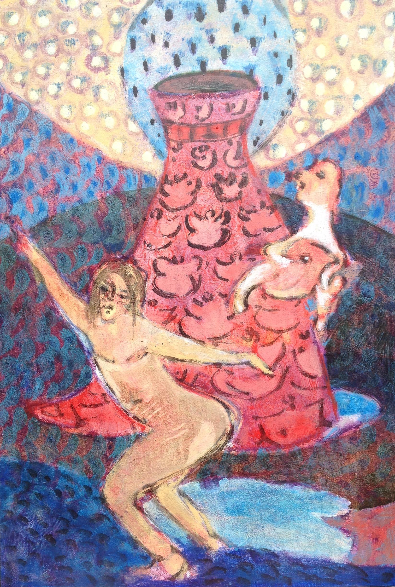 Totentanz, oil on canvas, 57x38cm