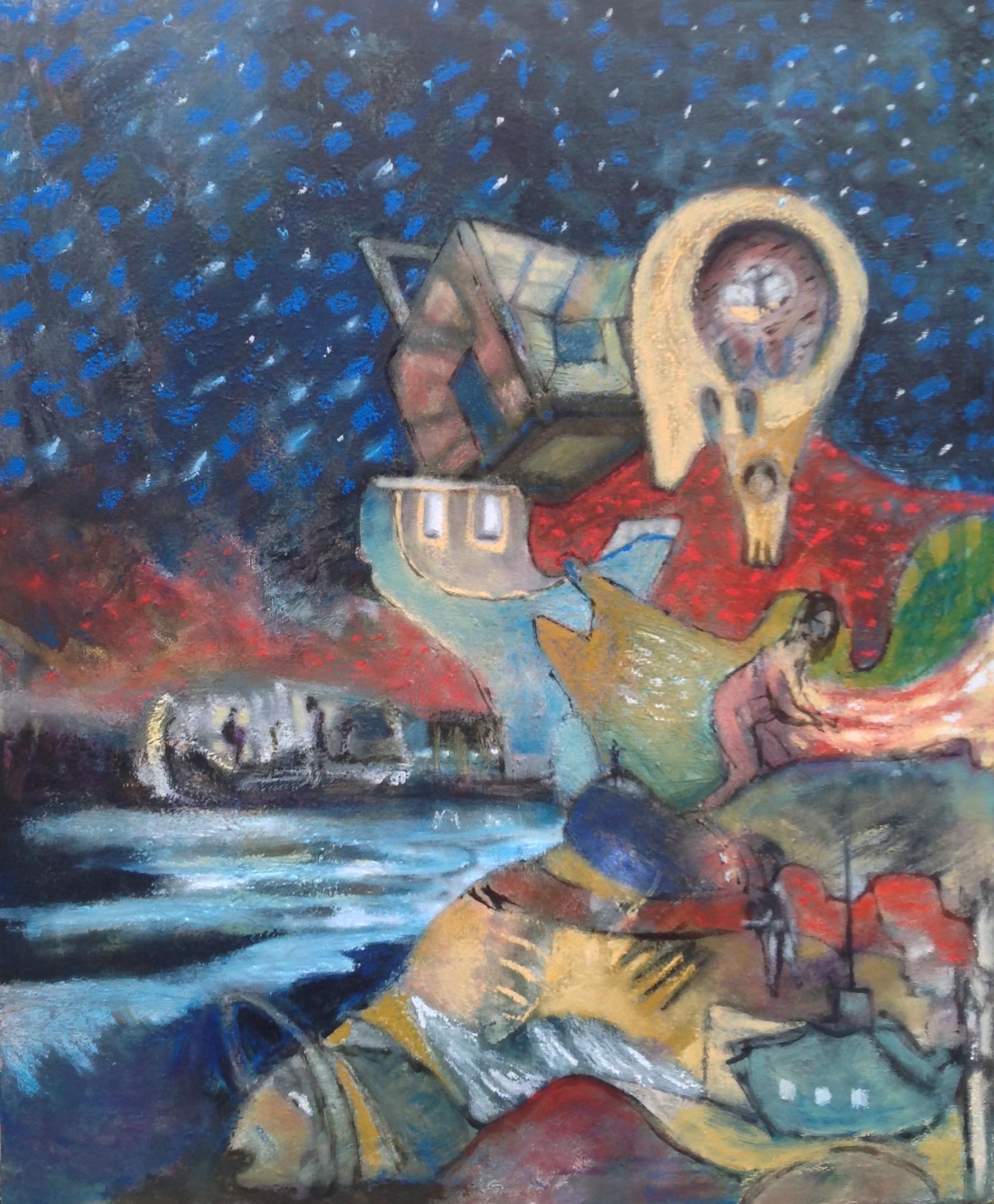 Interstellar, oil on canvas, 110x90cm