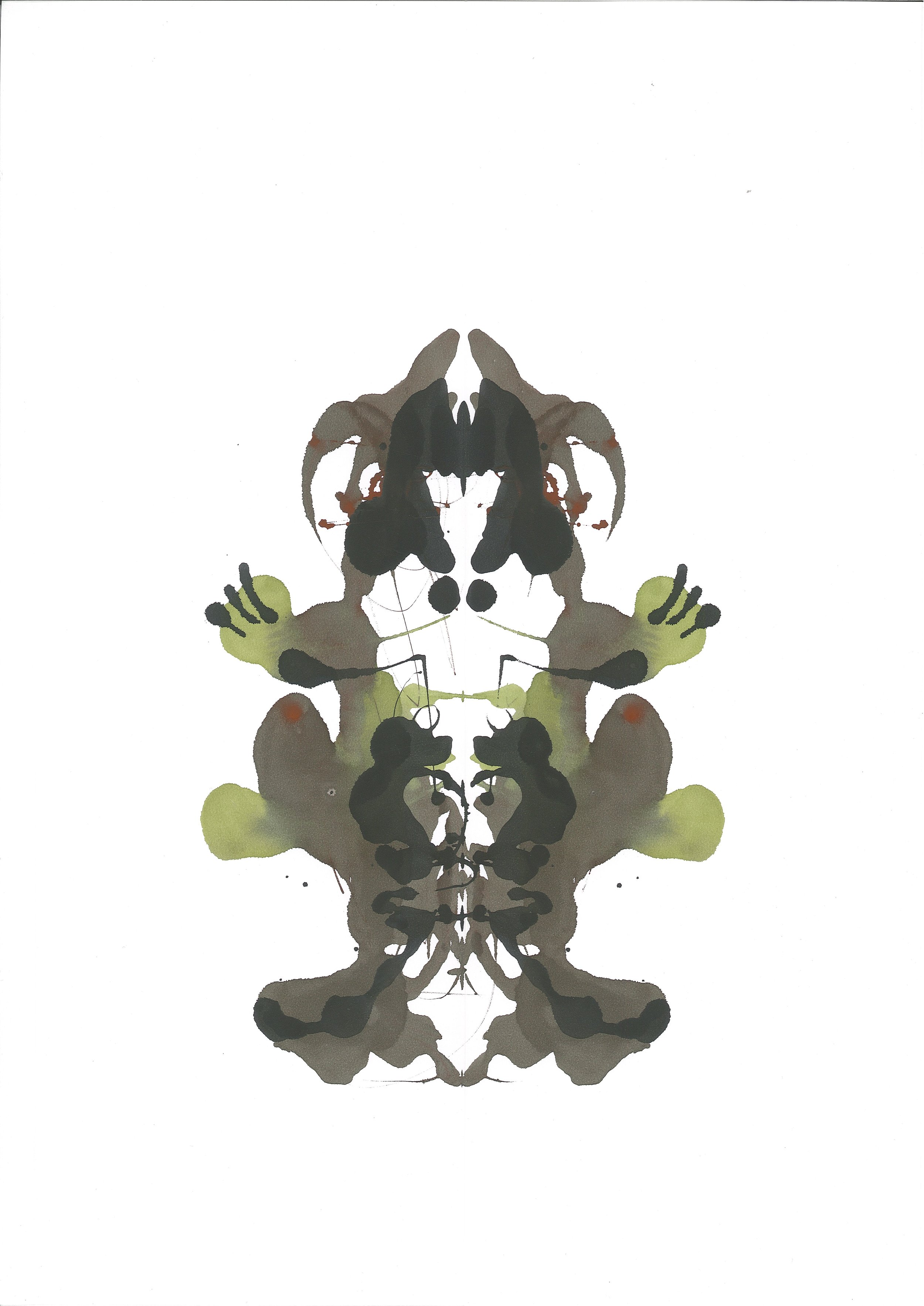 Superkid, gouache on stonepaper, 42x30cm