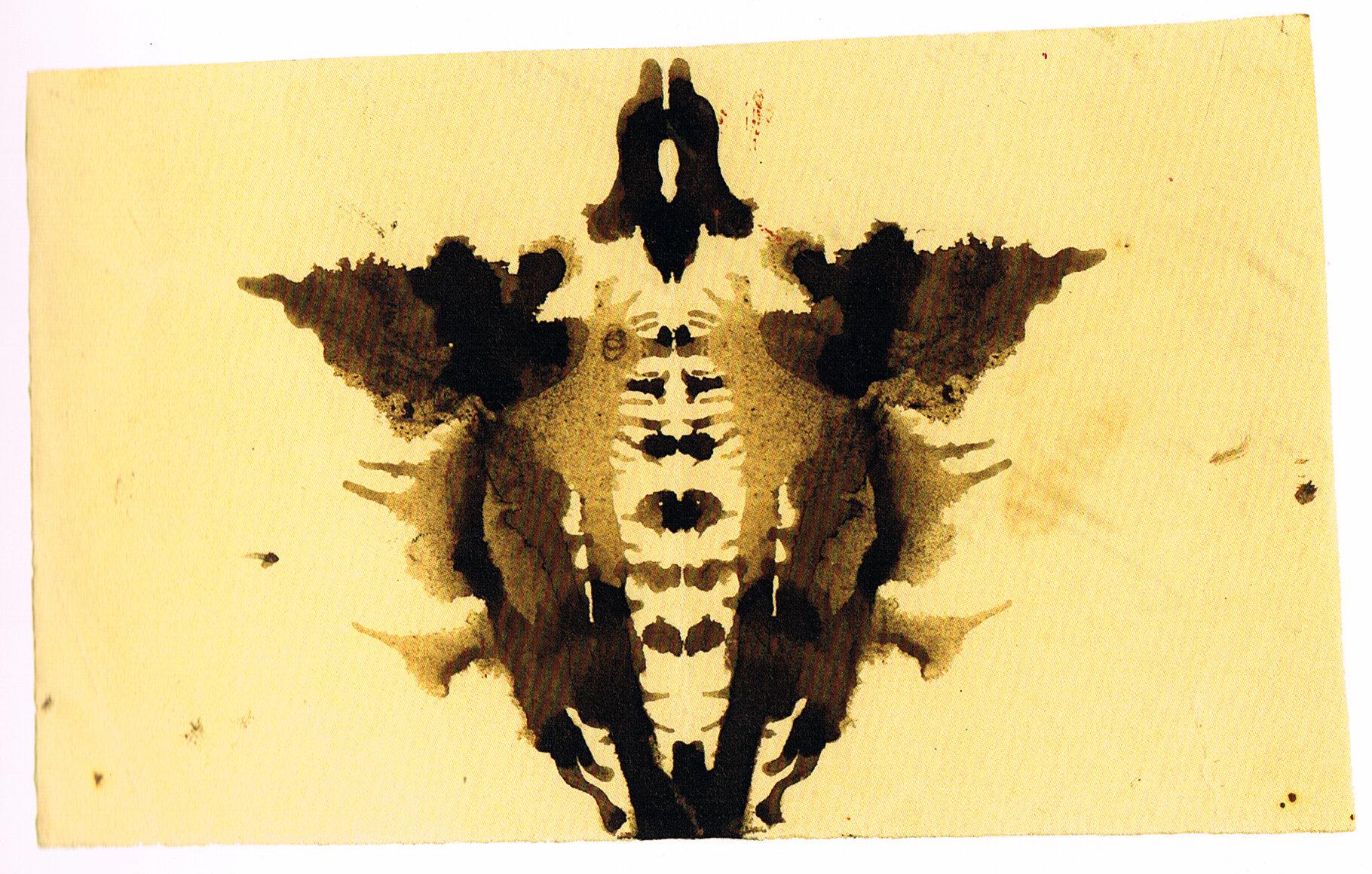 Beispiel von Justinus Kerners Klecksbildern