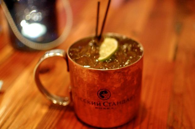 The Parish's Caribbean has a gingery version of the Moscow mule. Parish's version is made with rum.