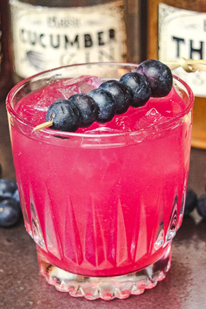 Blueberry Thyme Rickey