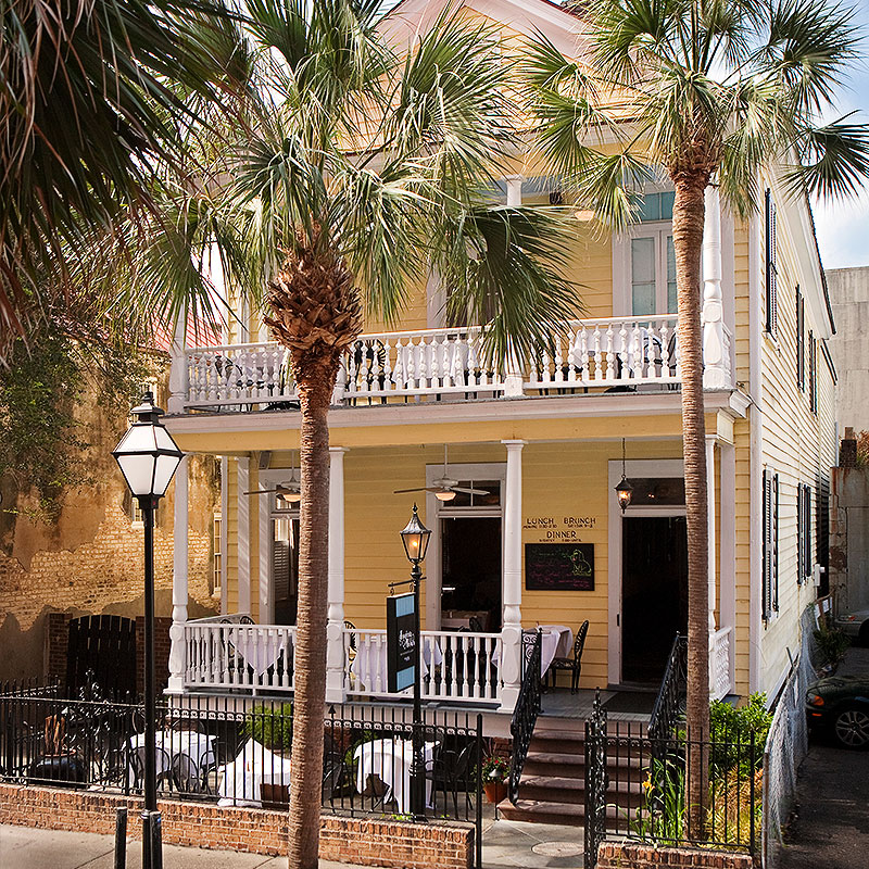 Upscale Lowcountry cuisine in a beautifully restored Victorian home.    72 Queen Street, Charleston, SC, 29401