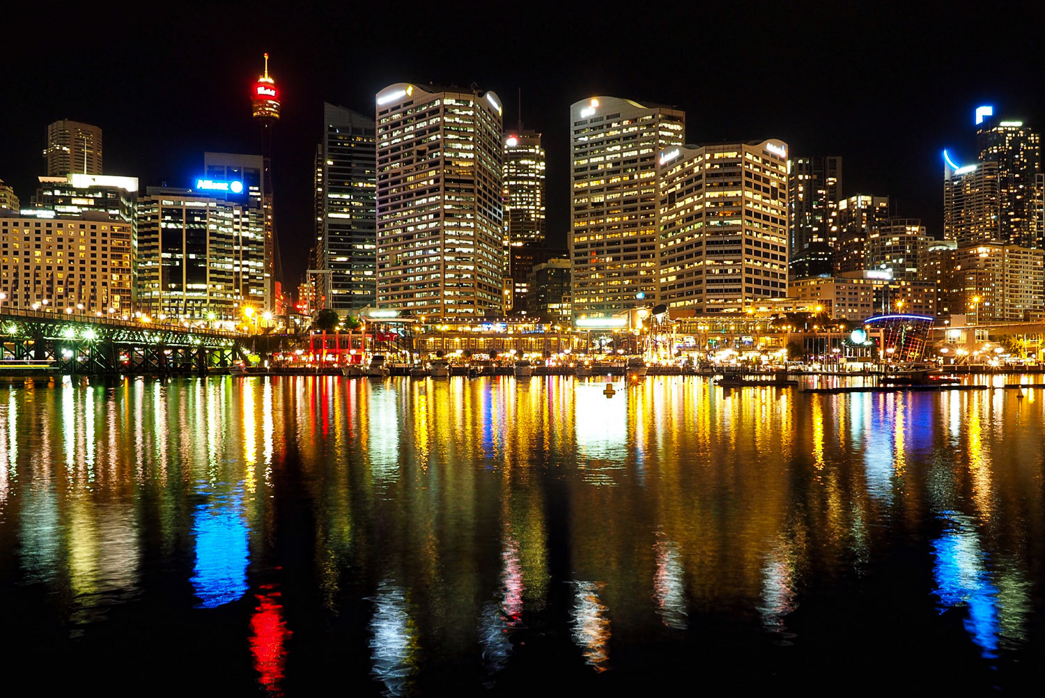 Darling Harbour, Sydney, Australia. 6 sec at f/8