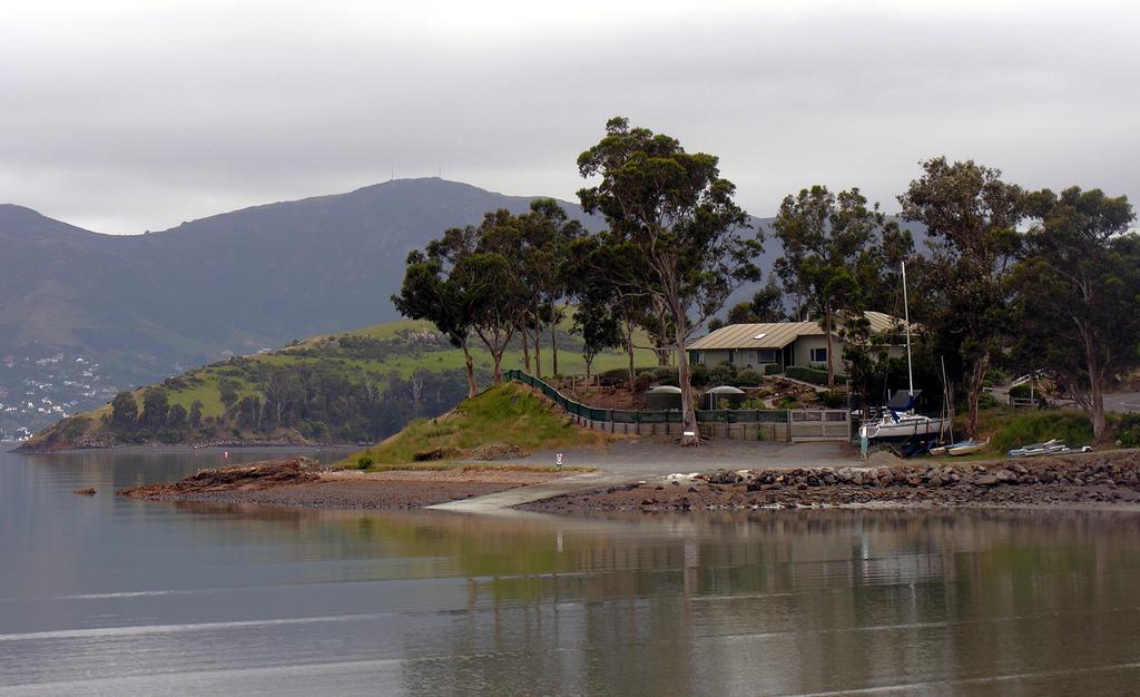 Charteris Bay boat ramp.
