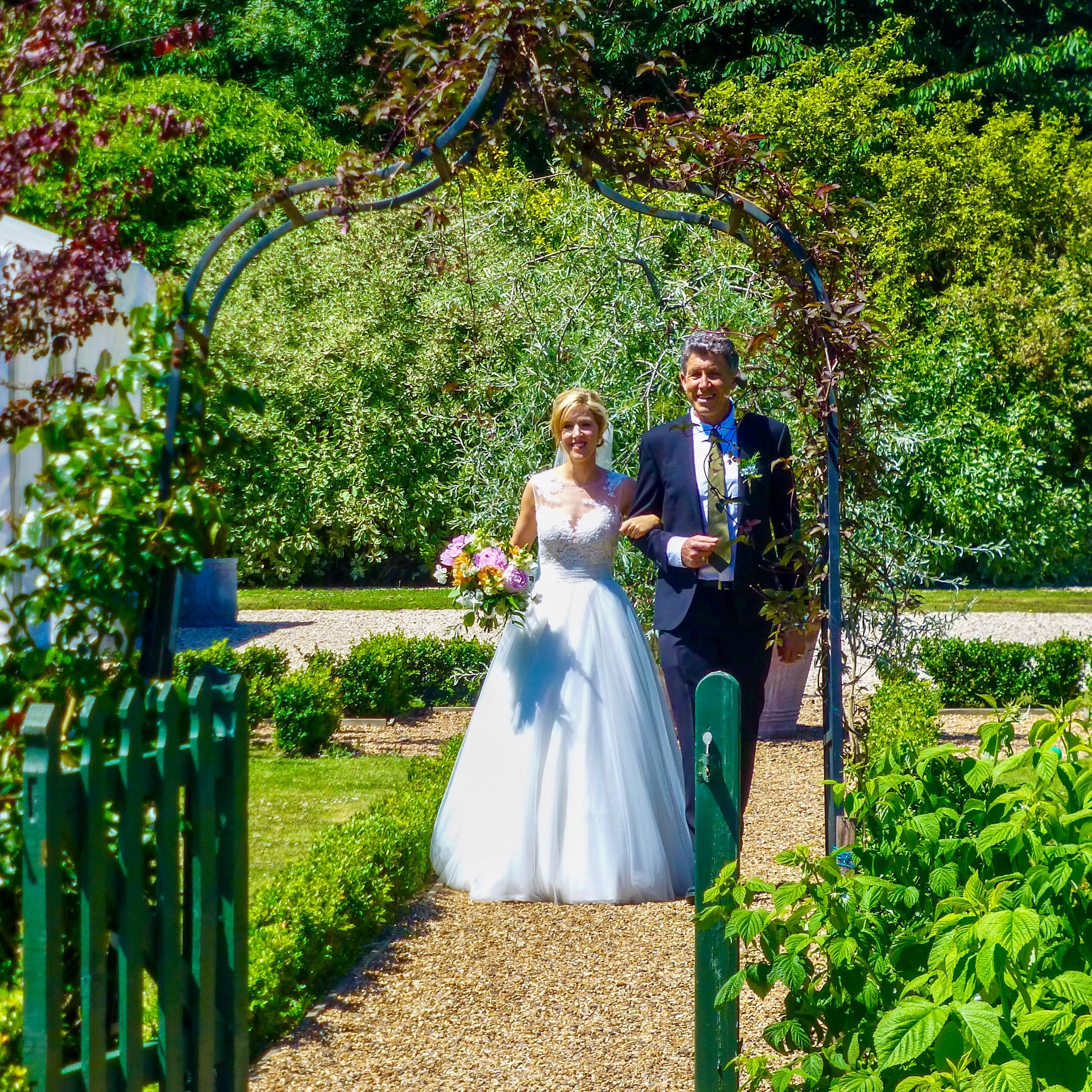 The Secret Garden, Ashford, Kent with my daughter Dr Jennie Taylor-Prince