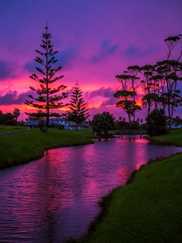 Pink Dawn. Papamoa Beach. P3024241