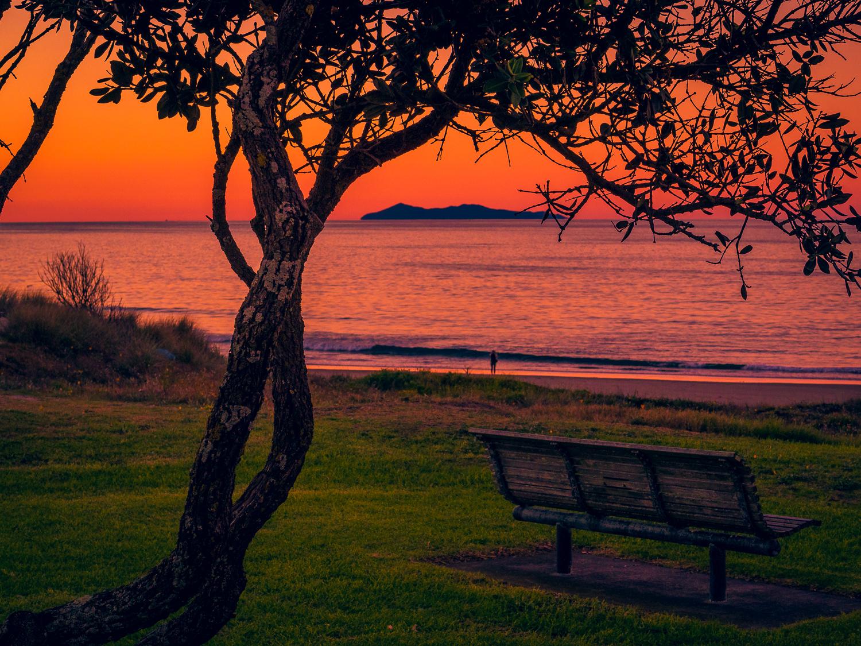 Take a seat. Mount Maunganui Beach. 2018.05.31