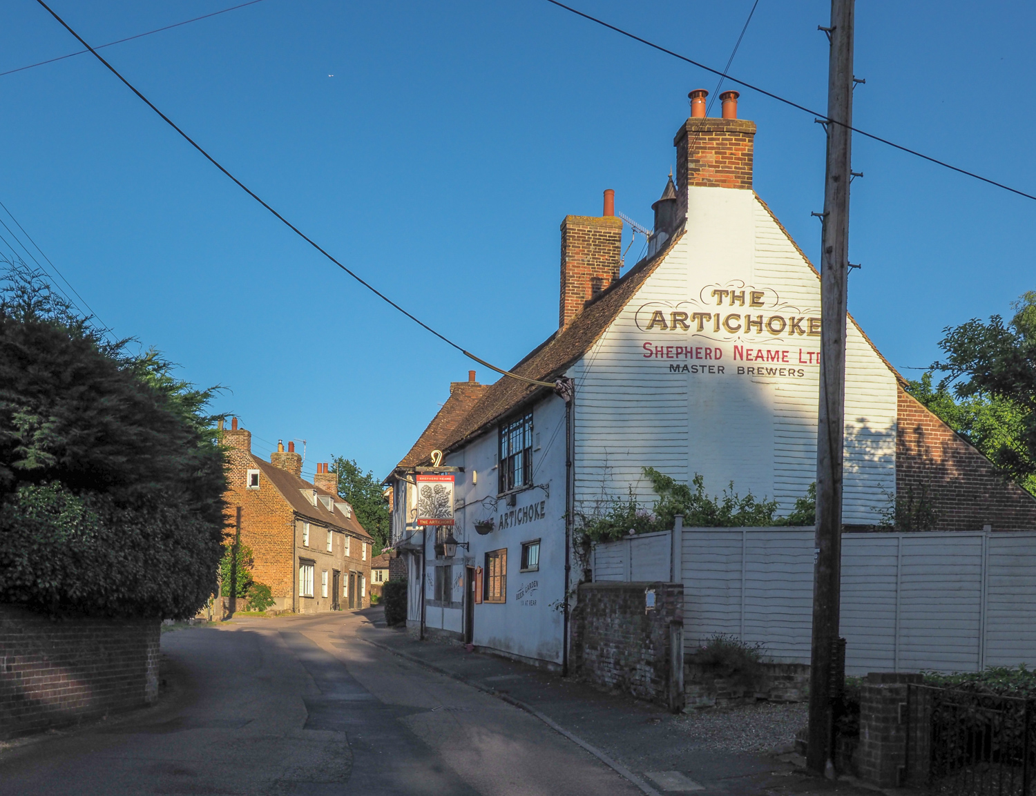 Why walk to Chartham? It's worth it just to walk into The Artichoke.