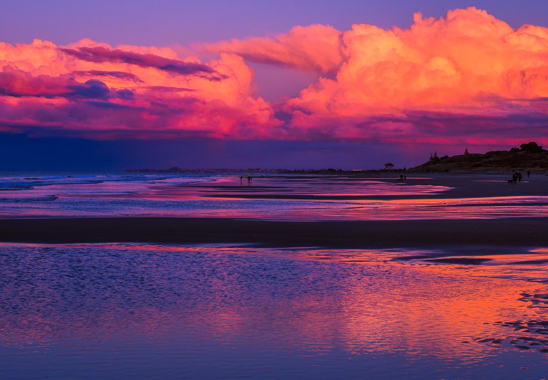 Stormy sky at dusk. Bay of Plenty, NZ. P8180070
