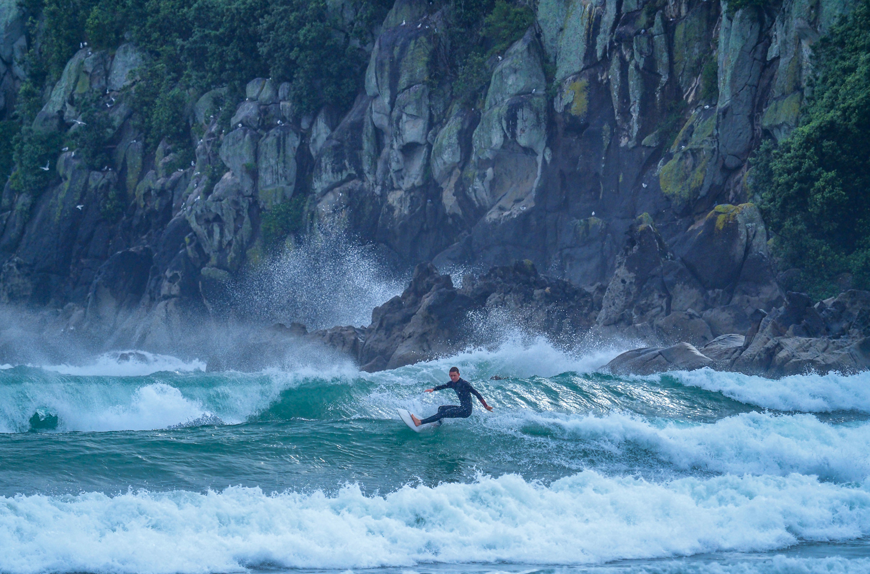 Surf's up. Mount Maunganui Beach. P9220140