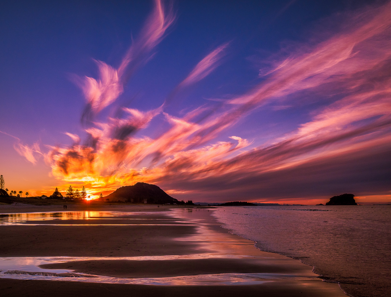 Fiery sunset. Mount Maunganui. P5230024