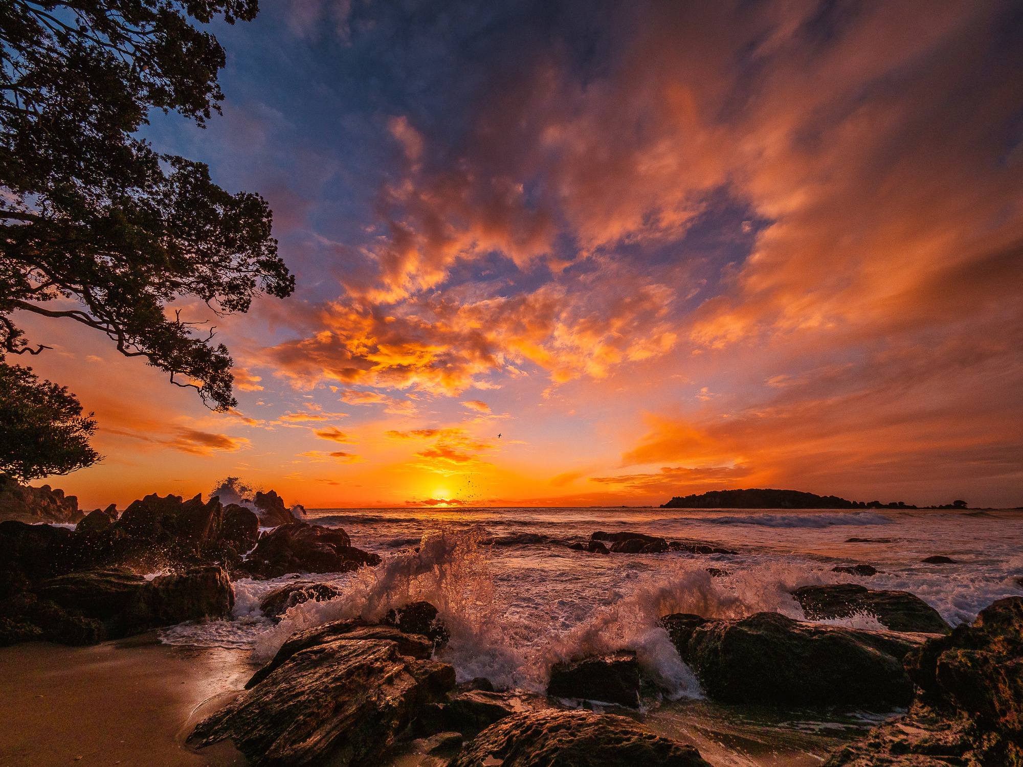 High tide at dawn. Mount Maunganui Beach. P7200107
