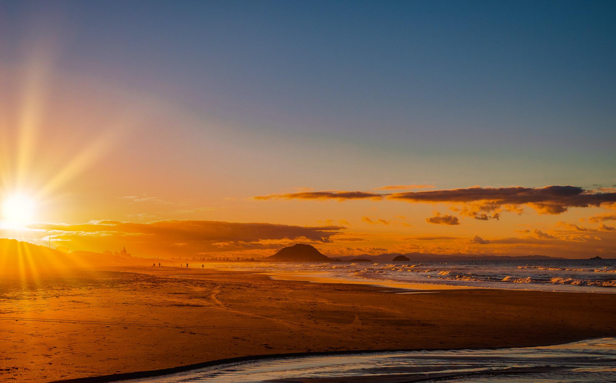 Late August Sunset. Papamoa Beach. P8190002