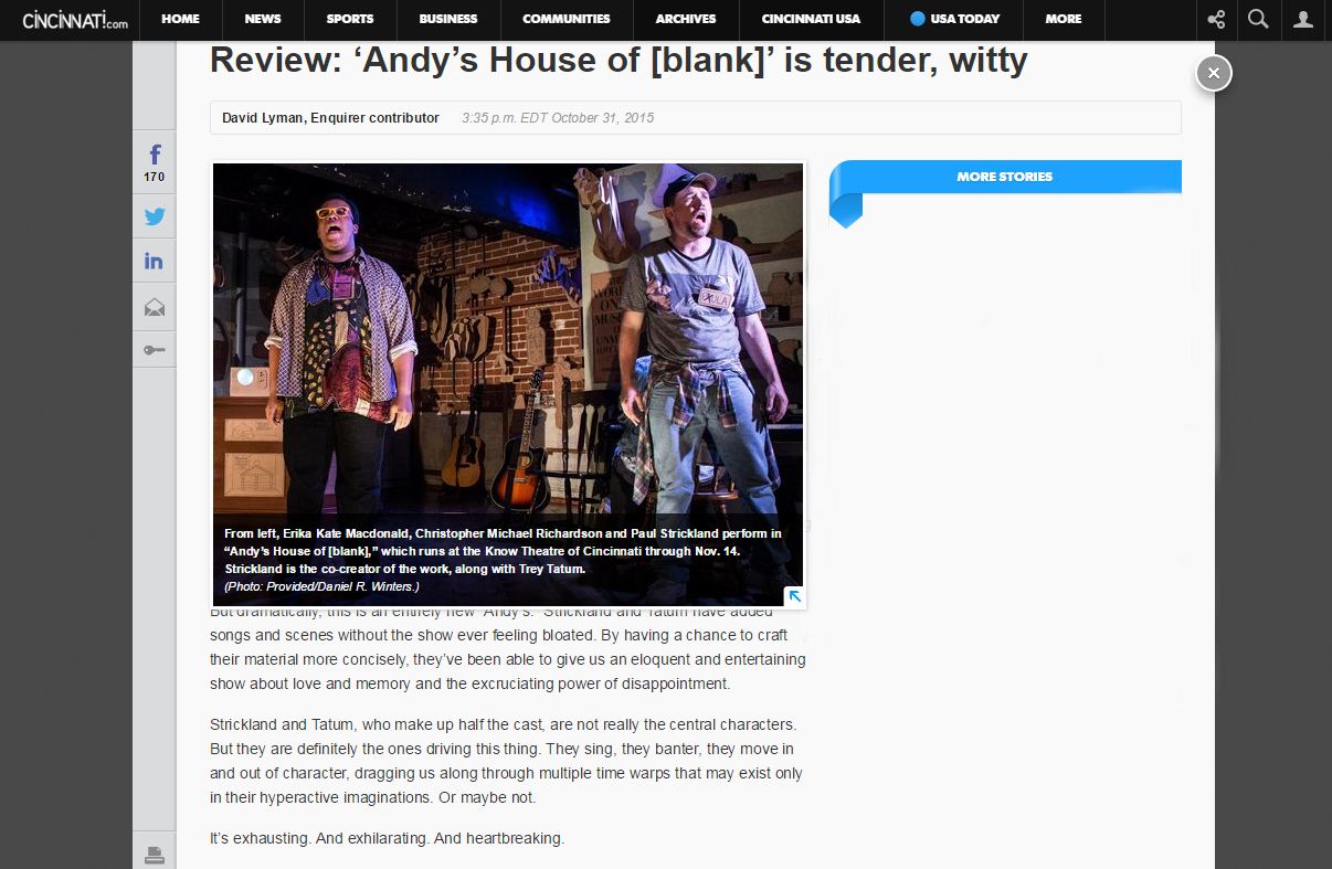 Andy's House Review - Enquirer