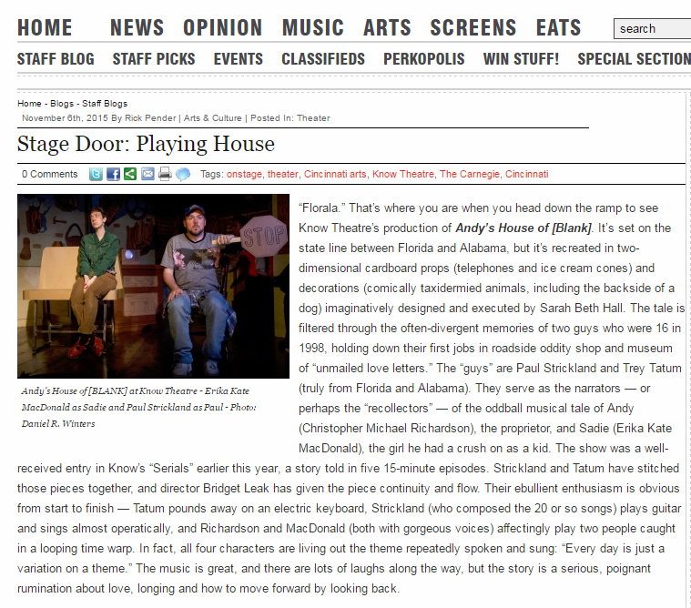 Andy's House CityBeat Review
