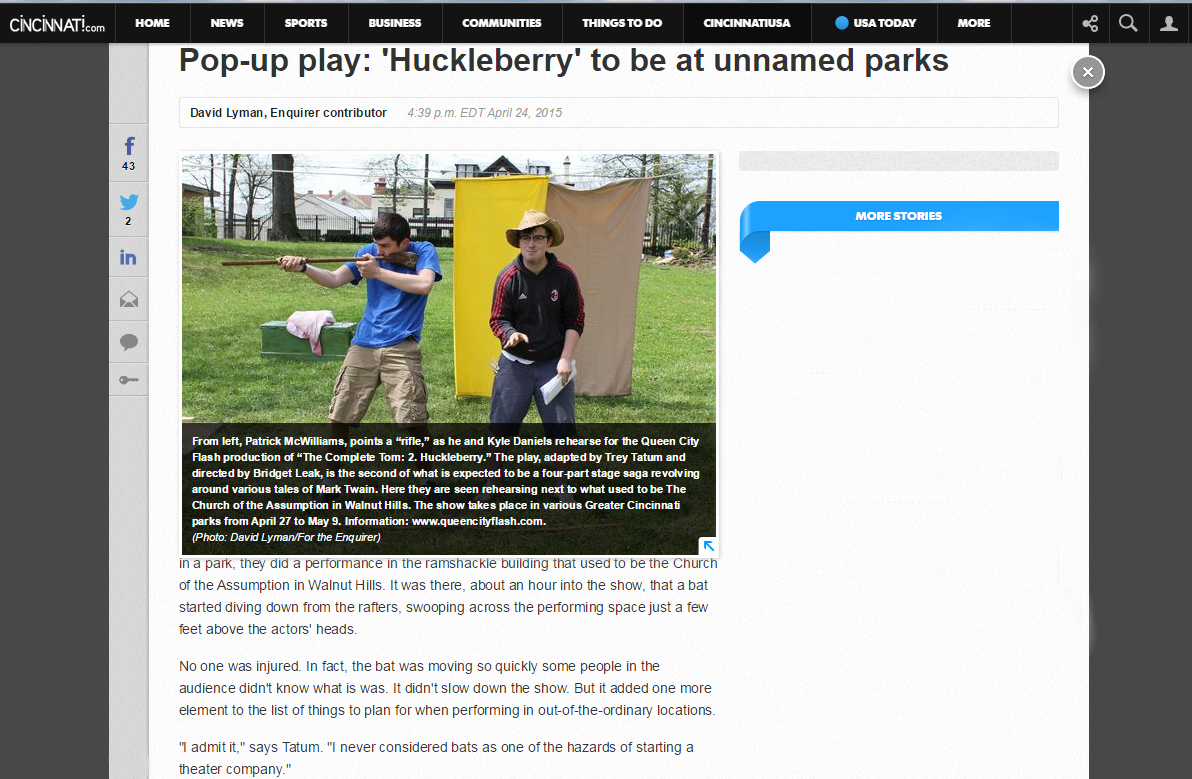 2. Huckleberry Enquirer Feature