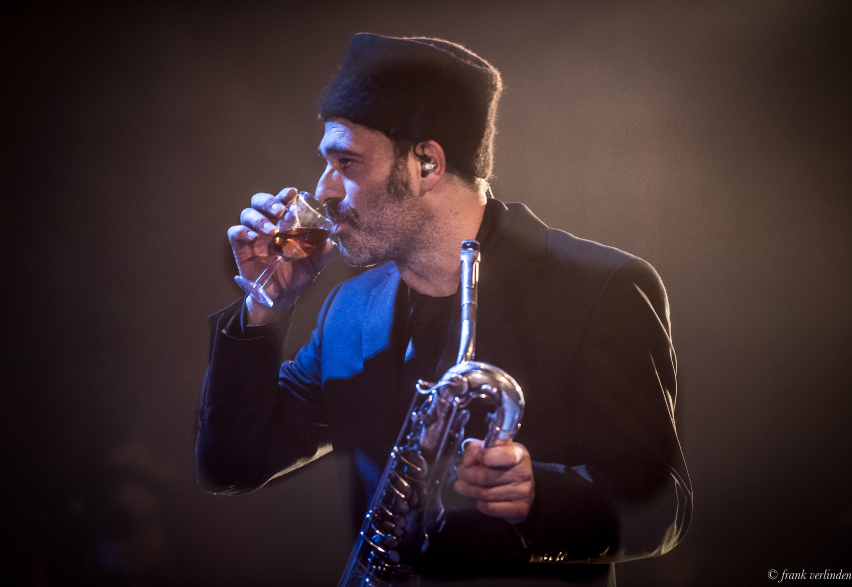 A saxophone wine nip...