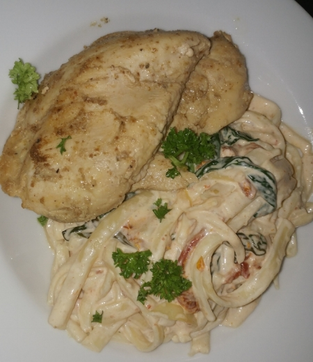 We enjoy chef prepared meals from At Your Table with Chef Curry. This was a delicious chicken pasta dish. I want some right now.