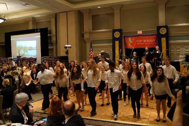 Youth Exchange presentation at District Conference 2015