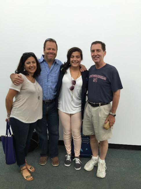 Outbound YES, Milena Urroz, with her family and YEC Lou Mello
