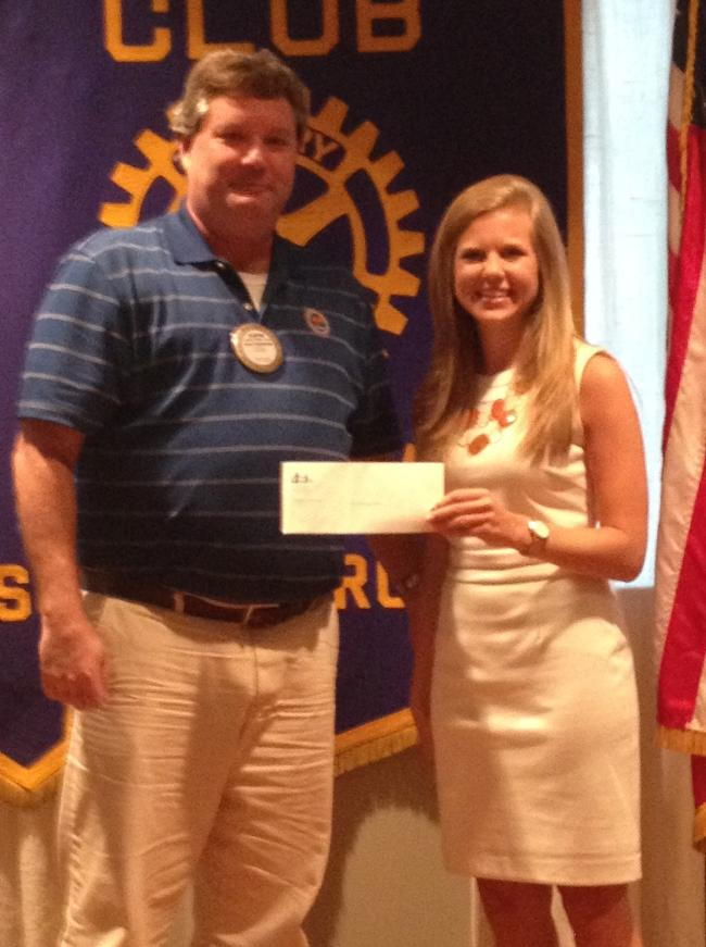 Sarah Katherine Gilliam, rising senior at Clemson, receives a $3000 scholarship.