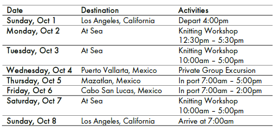 * Ask about optional round trip transportation from the Encinitas area to the cruise port!