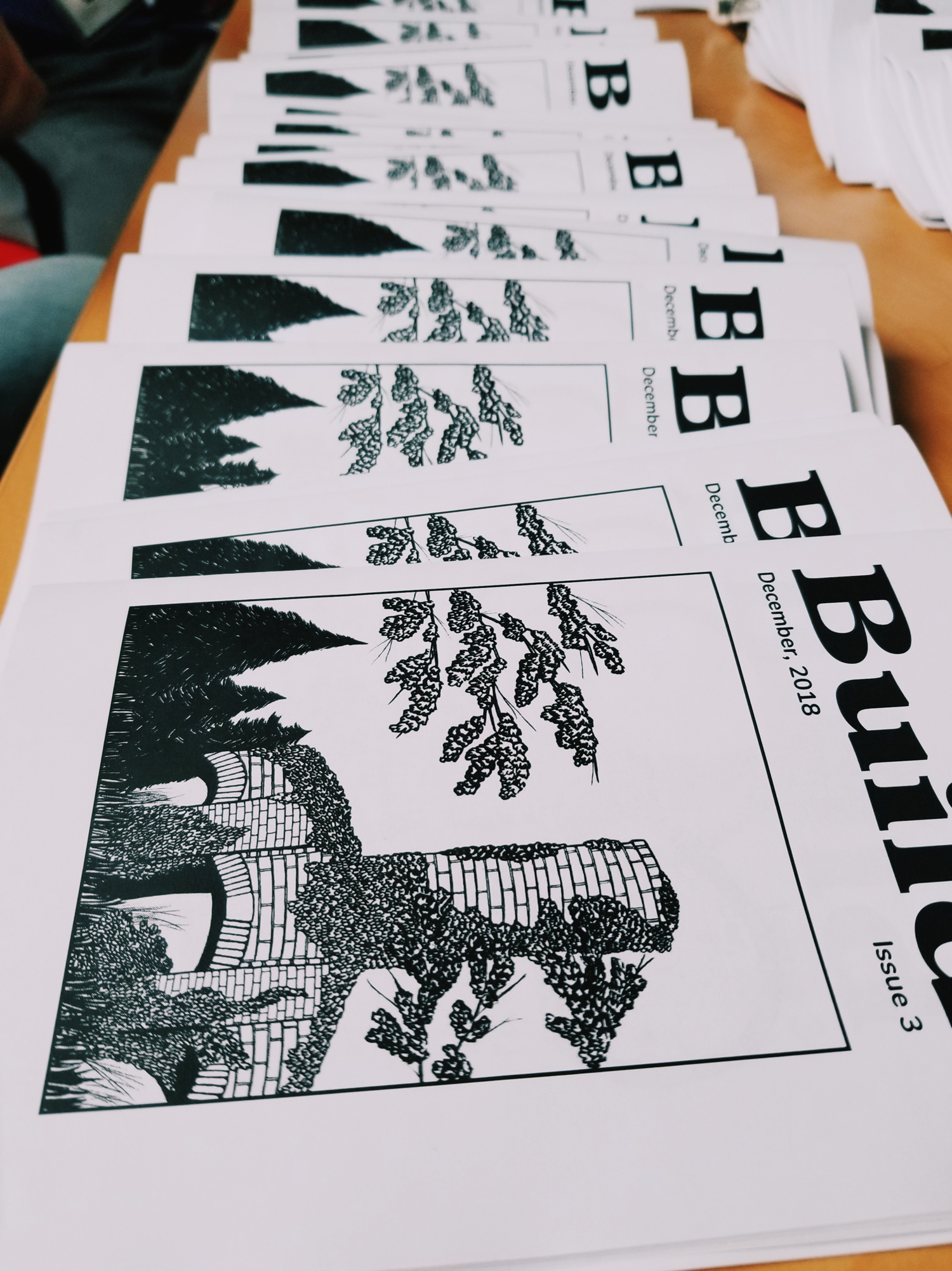 Ended the year helping assemble these zines