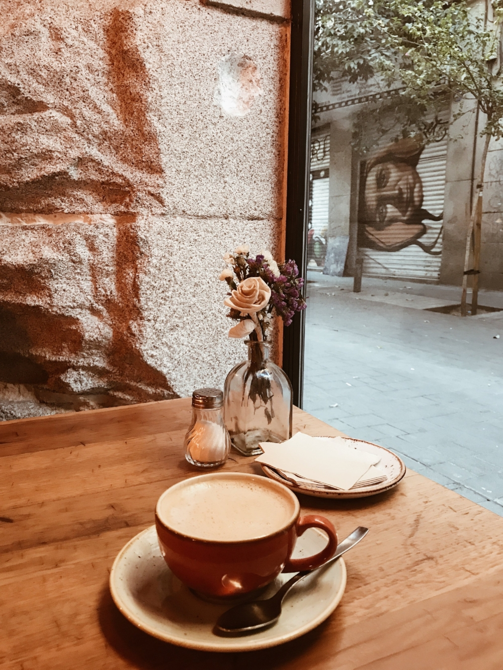 Morning coffee in Madrid