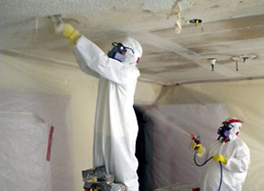 Asbestos is commonly found in the acoustical texture on ceilings.