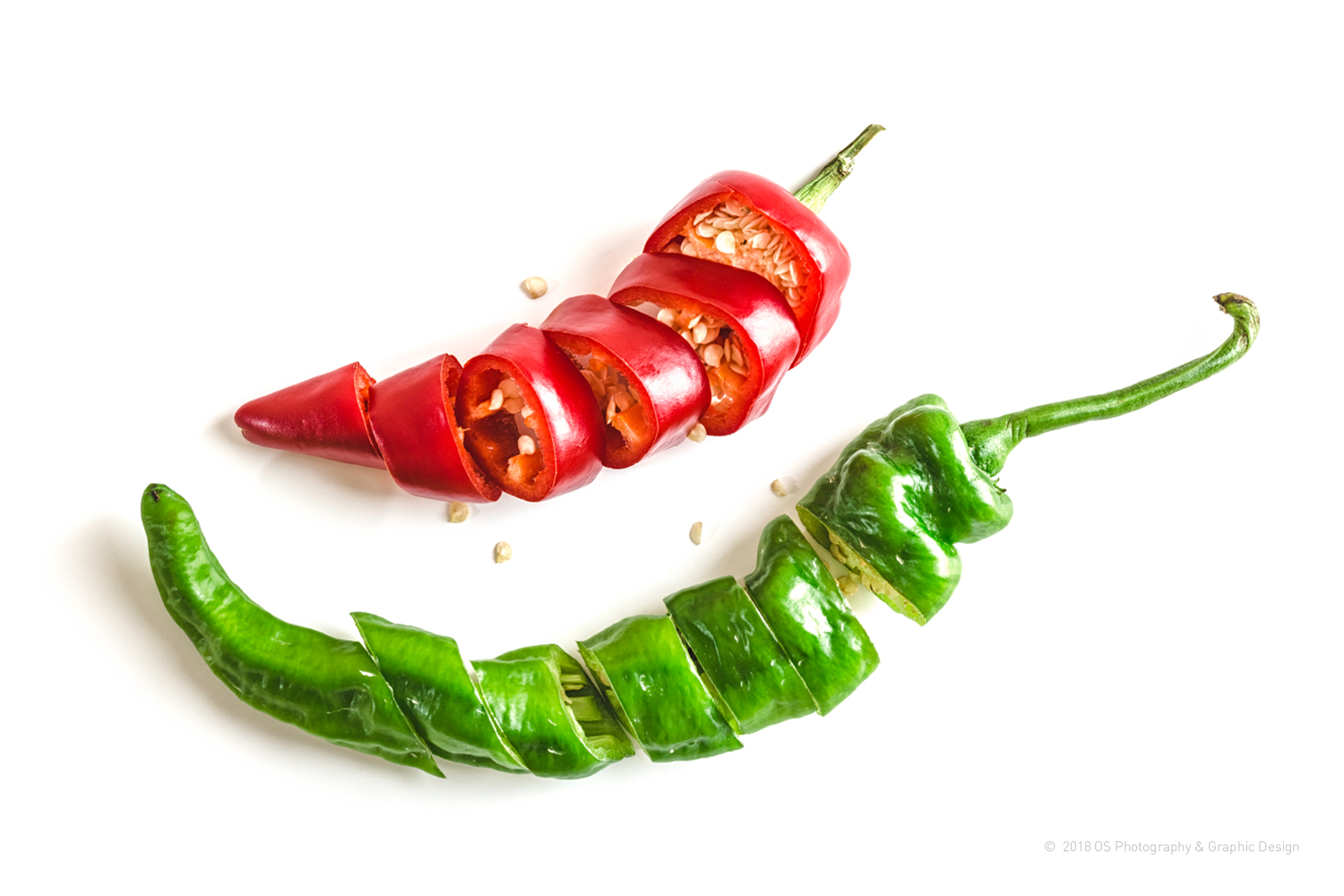 RED-N-GREEN HOT CHILI PEPPERS