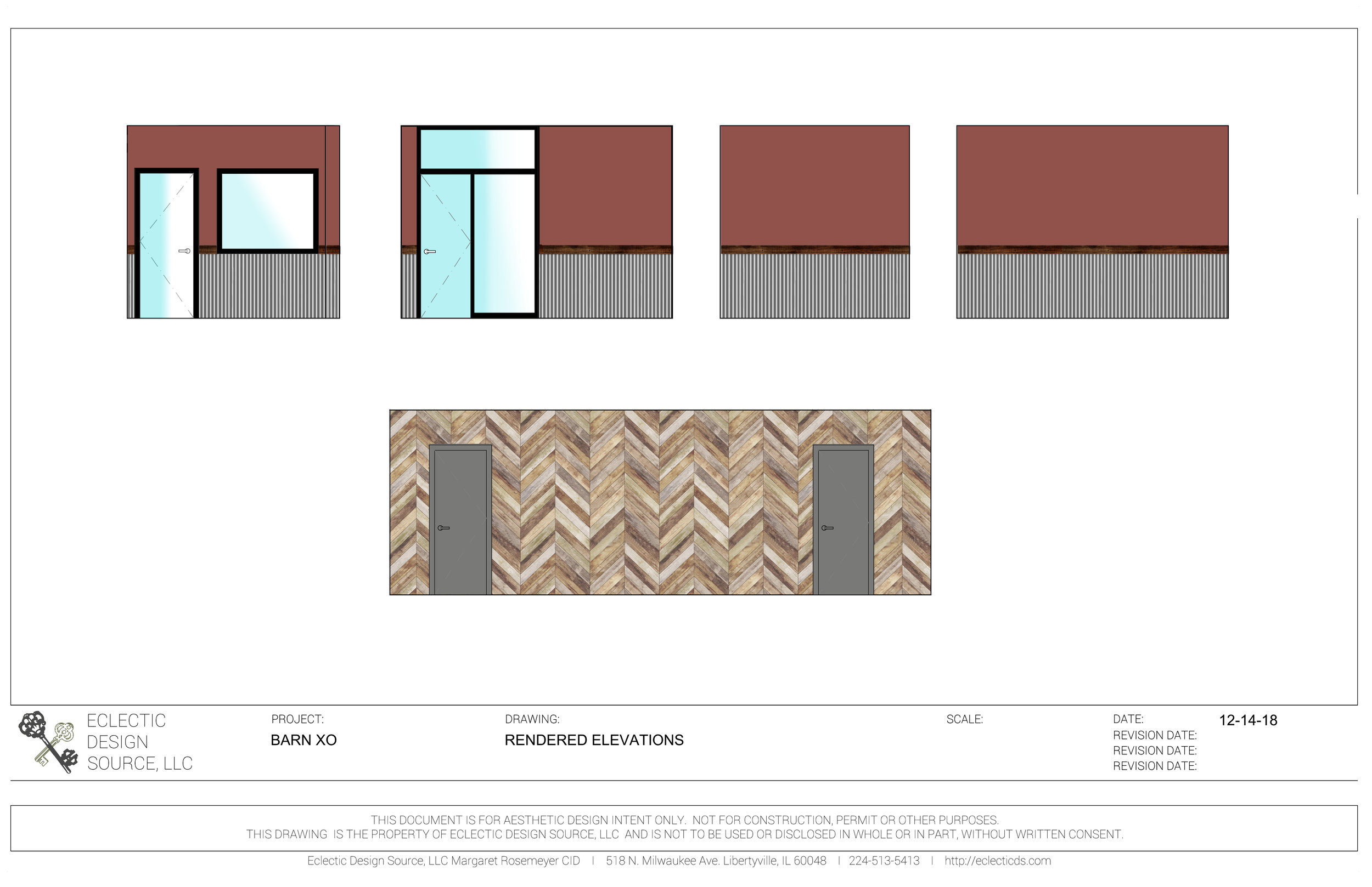 Rendered Elevations to receive approval on finishes