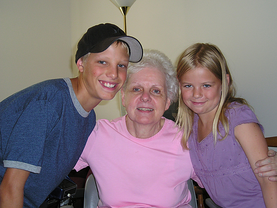 Diane and her grandchildren, Trevor and Kelsey