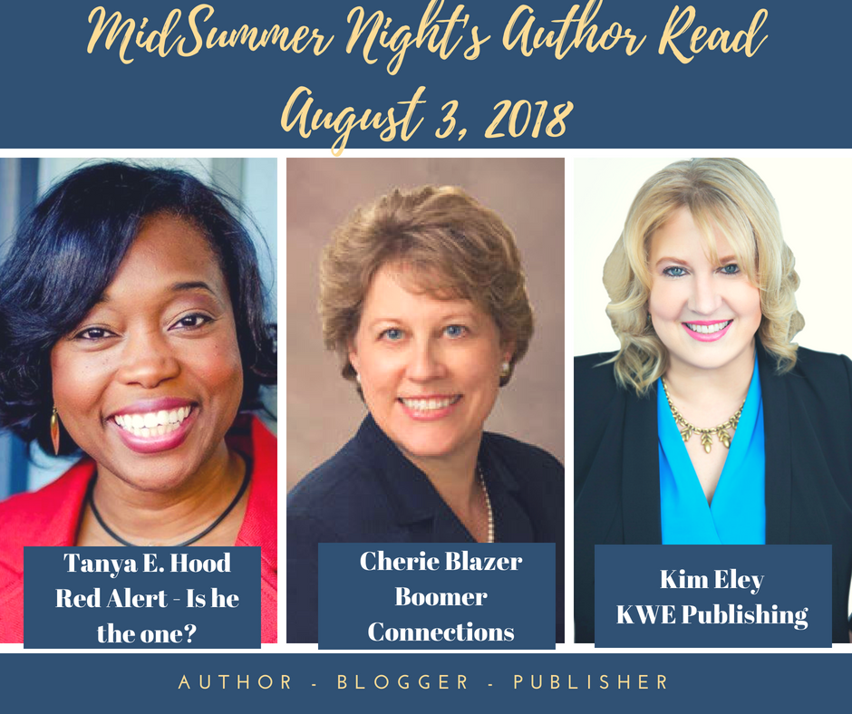 August 3, 2018 - Participated withTanya E. Hood and Cherie Blazer on the Patio of the Richmond Marriott Short Pump Hotel. This event included great conversation, readings, refreshments and an interview with each of the guest speakers.