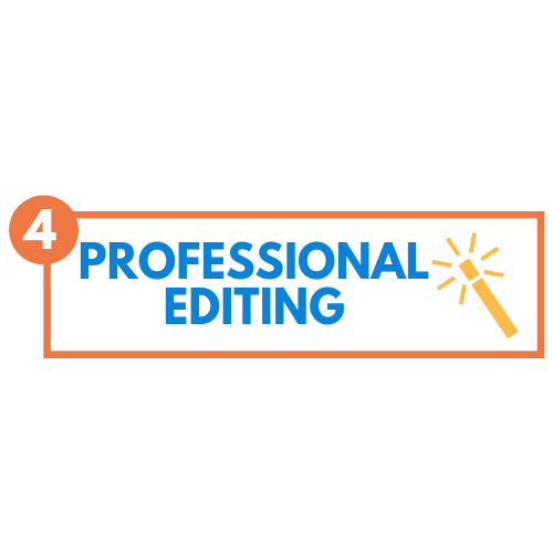 Polishing your message… - Grammatical errors, punctuation issues, and poor word choices tarnish your words and take away from the message you want to share. We'll have your draft professionally edited to address errors and make your words sparkle as brightly as your ideas!