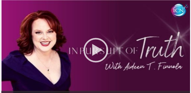 "Host Aideen T. Finnola, author of ""My Exquisite Purple Life"" and radio host of  In Pursuit of Truth with Aideen T. Finnola"