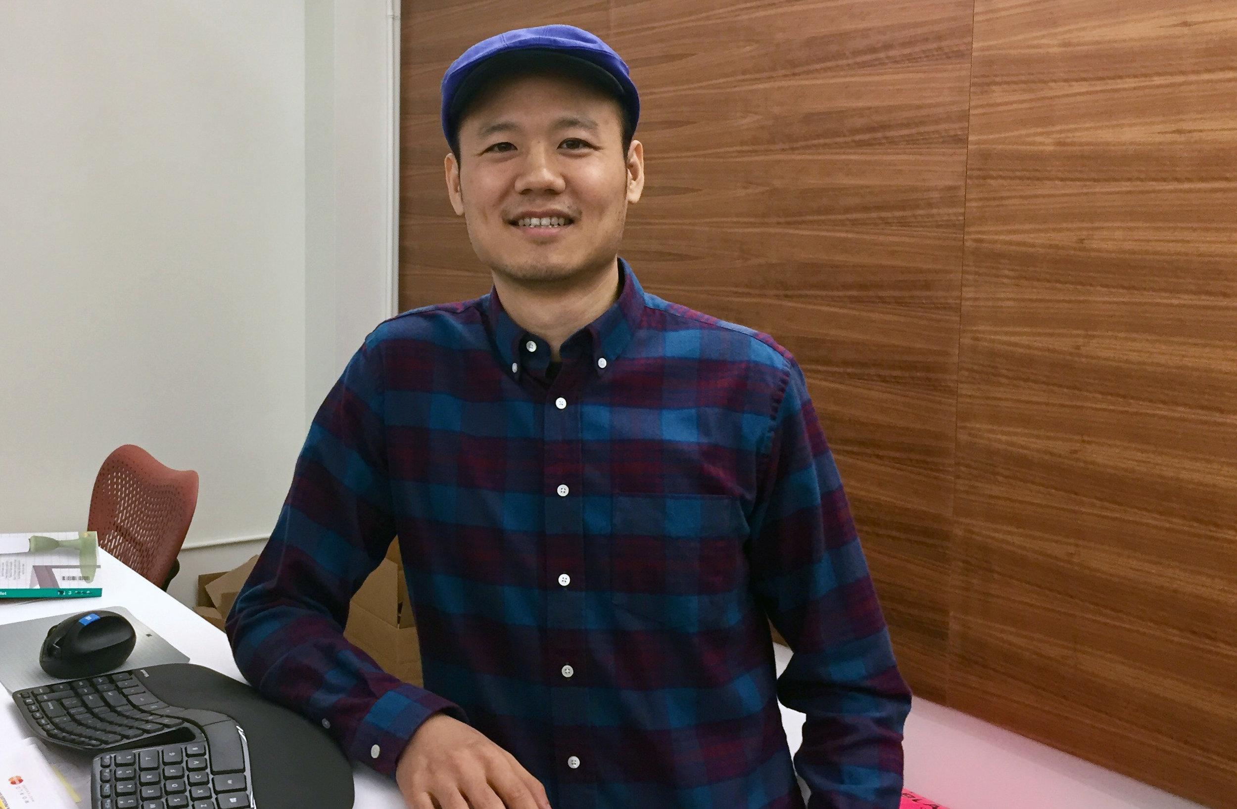 The pro, Shawn Liu.