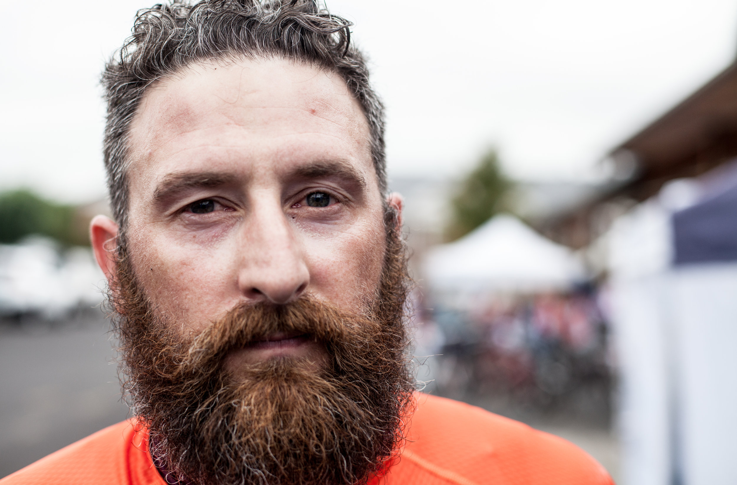 Matt Hawkins, clearly out to catch some miles in that beard.
