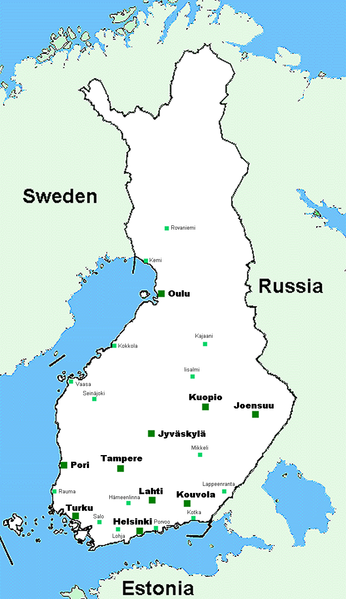 Finland. Credit:  Wikimedia Commons