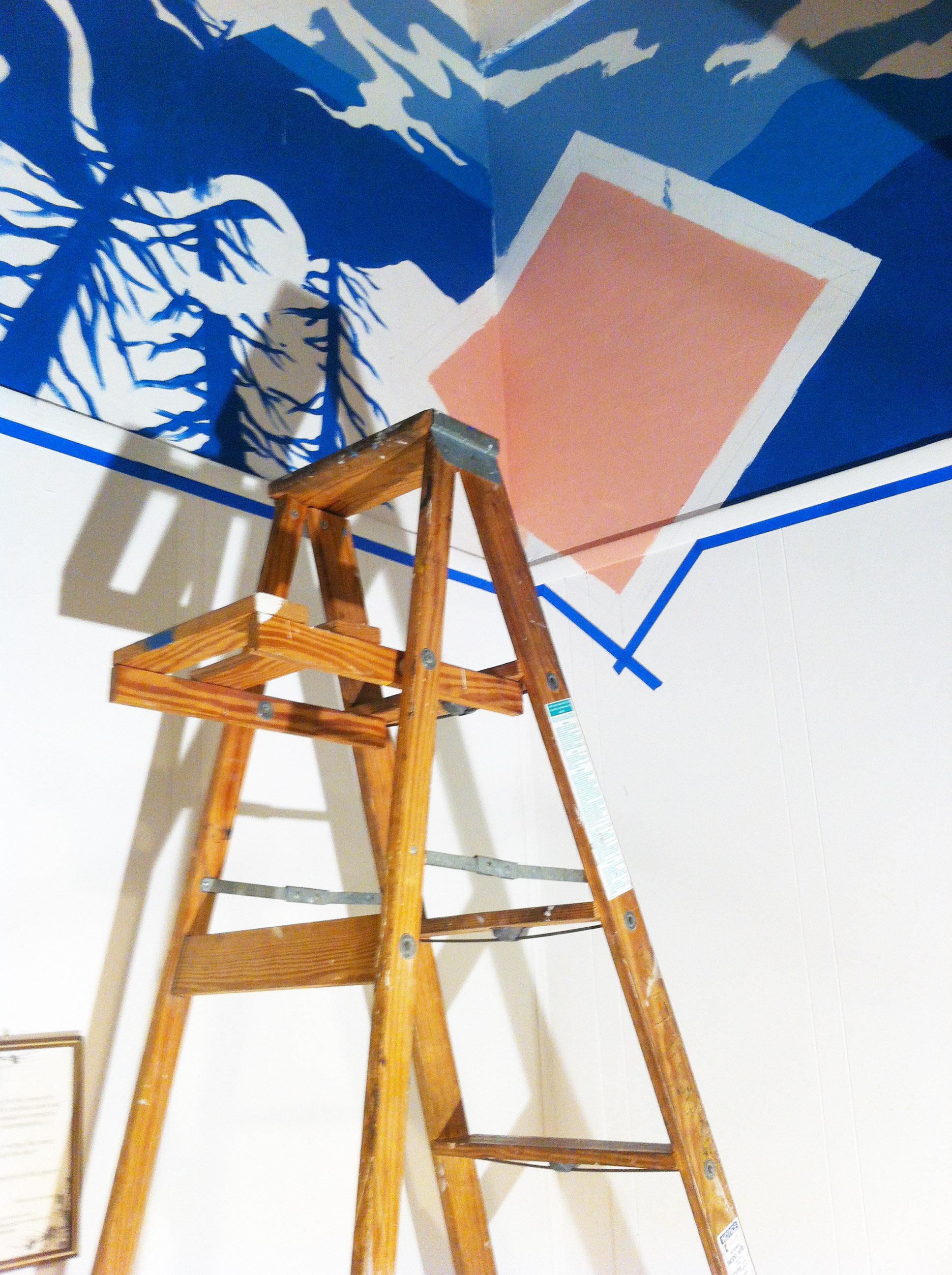 WIP: Ladder in corner.