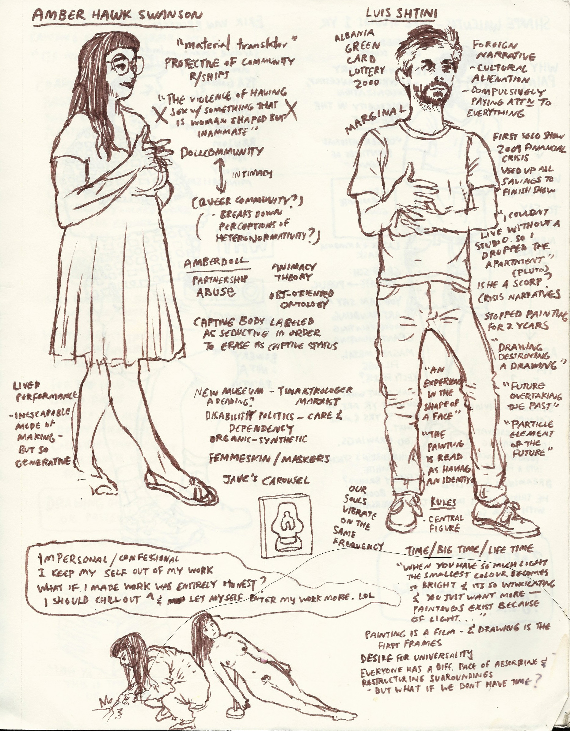 studio visits: Amber Hawk Swanson / Luis Shtini