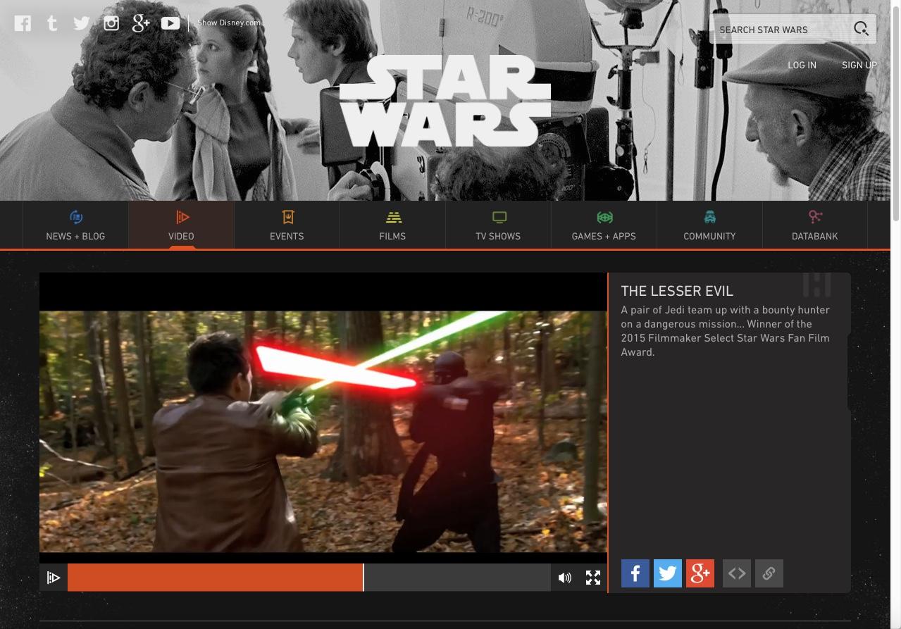 StarWars.com - Our award winning Star Wars fan film