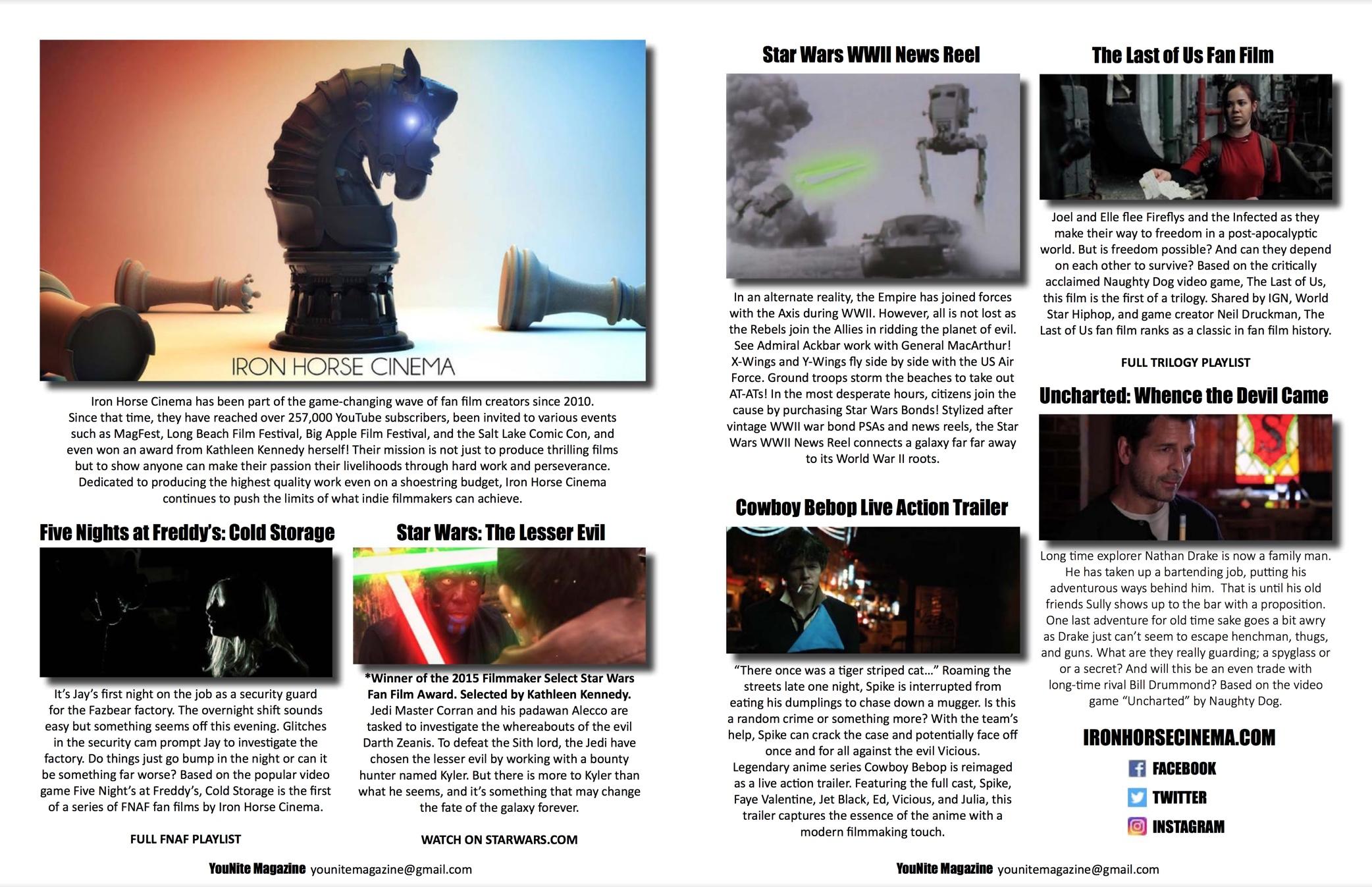 YouNite Magazine - Write up in the premiere issue of YouNite Magazine.