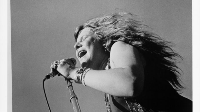 Janis Joplin at the San Jose Pop Festival, California. Circa 1969. Michael Ochs Archives/Getty